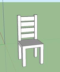 Mod liser une chaise avec sketchup en quelques tapes for Chaise 3d dessin