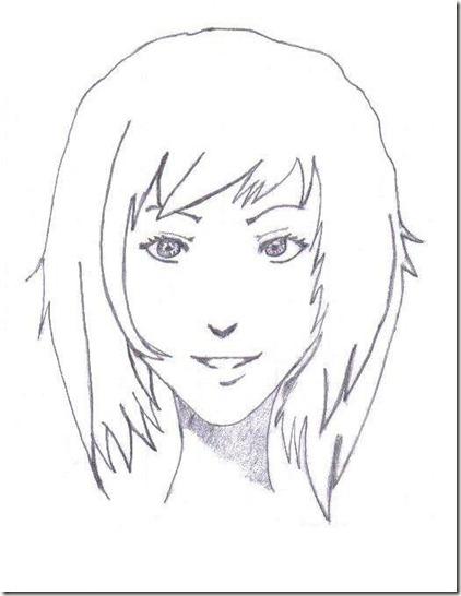 commentaire du dessin de younes dessiner un visage manga. Black Bedroom Furniture Sets. Home Design Ideas