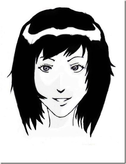 Commentaire du dessin de younes dessiner un visage manga - Dessin manga visage ...