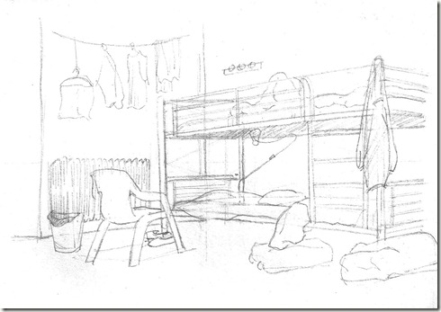 Croquis village des pruniers for Dessin chambre perspective