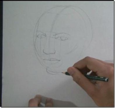 apprendre à dessiner un visage 2