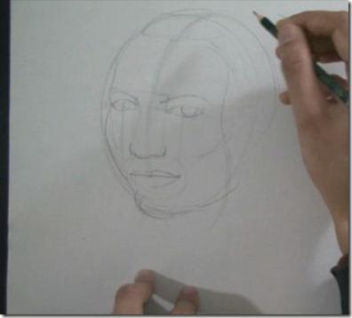 apprendre à dessiner un visage 3