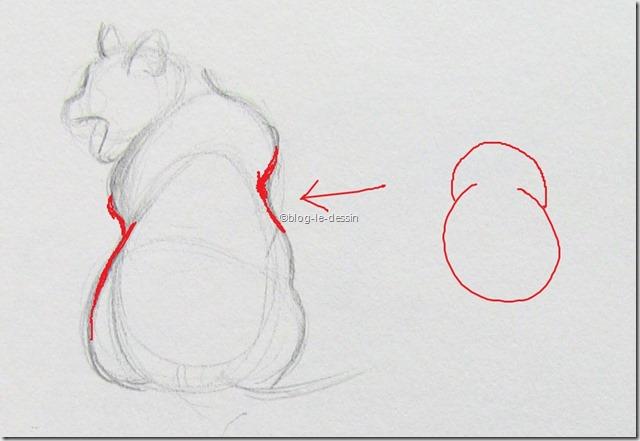 Un exemple de ligne rentrante avec un chat dessiné