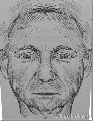 portrait de face symétrique