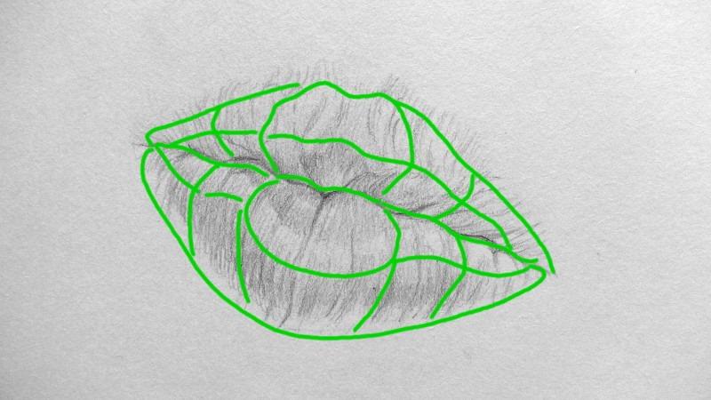 3 principes pour dessiner une bouche dans plusieurs - Dessin de bisous ...