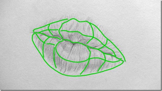 dessin bouche plans