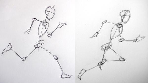 Article invit sur les traces d un coureur pied l art de saisir le mouvement en - Coureur dessin ...