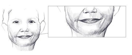 dessiner la bouche d'un enfant