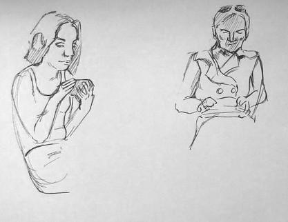dessiner sur le vif