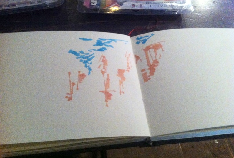 La seconde couleur de la peinture que j'ai utilisé dans mon dessin est le bleu cyan pour le ciel.