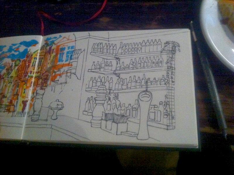 Il vaut mieux apprendre à dessiner sur le motif comme dans un café par exemple.