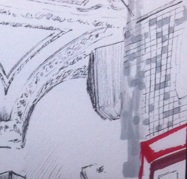Vous devez arrêter les lignes des carreaux au niveau de la tâche de gris pour apprendre à dessiner cet effet de flou.