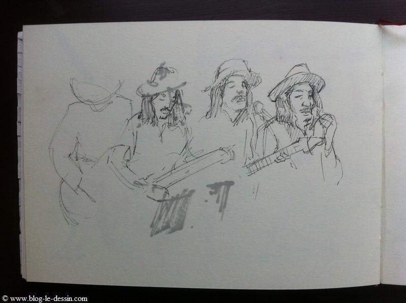 Les ébauches avant de dessiner un portrait