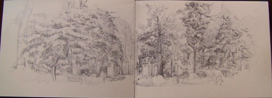 Apprendre à dessiner un paysage du parc de Toulouse