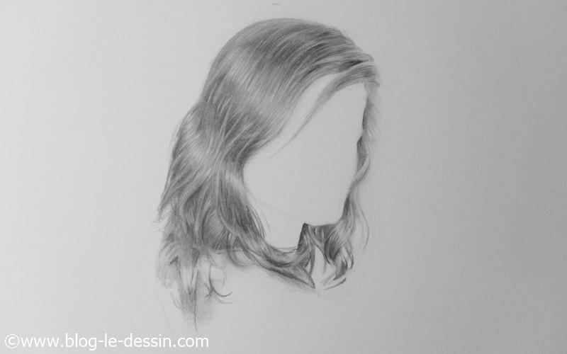 Le rendu final lorsque j'ai terminé de dessiner des cheveux réalistes.