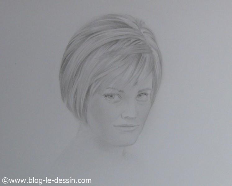 le portrait d'une femme très douce que j'ai réalisé dans la journée