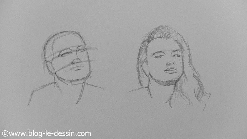 apprendre dessiner les visages sous plusieurs angles. Black Bedroom Furniture Sets. Home Design Ideas