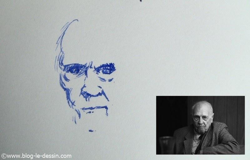 dessin stylo plume portrait partie 2