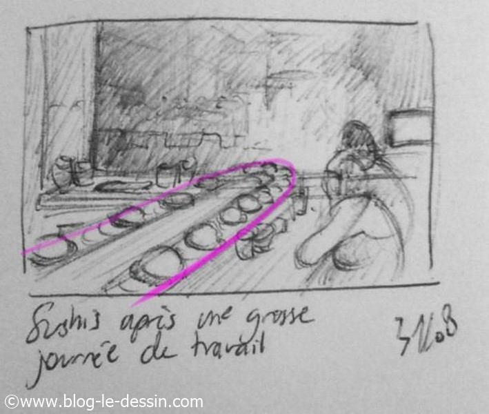 diagonale 2 dessin sur le vif