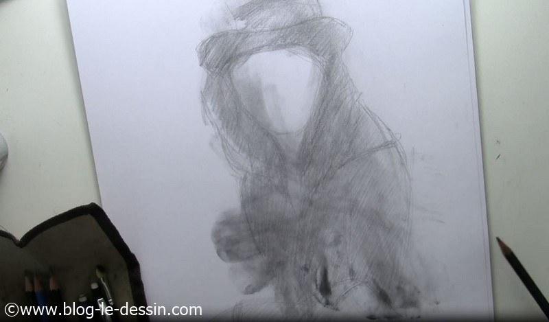 dessiner visage fille tutoriel structure finie