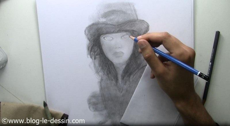 tutoriel dessiner visage fille ressortir regard