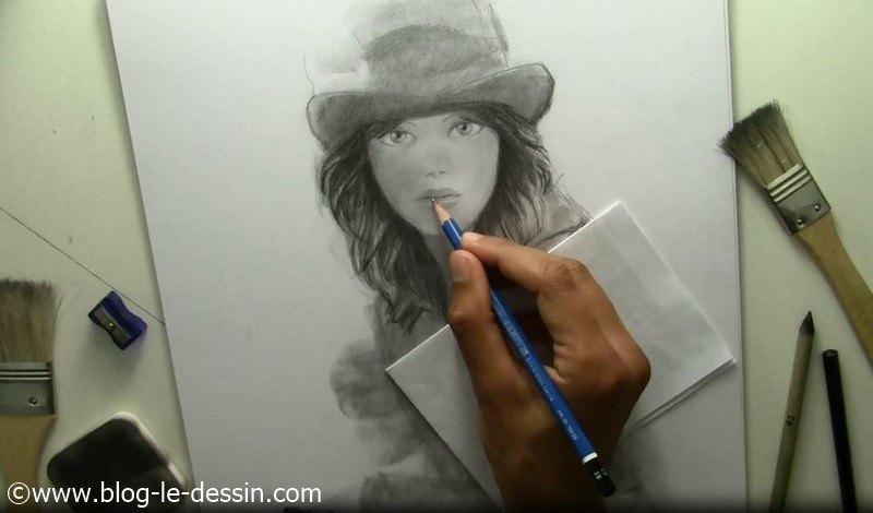 dessiner tutoriel visage fille bouche ouverte