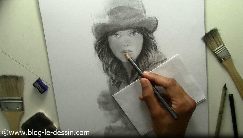 tutoriel dessiner visage fille contraste levres