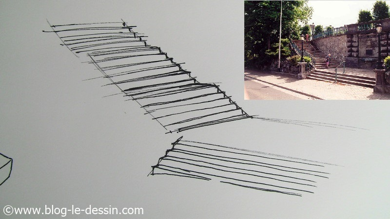 dessiner un escalier en perspective 224 lev 201 e