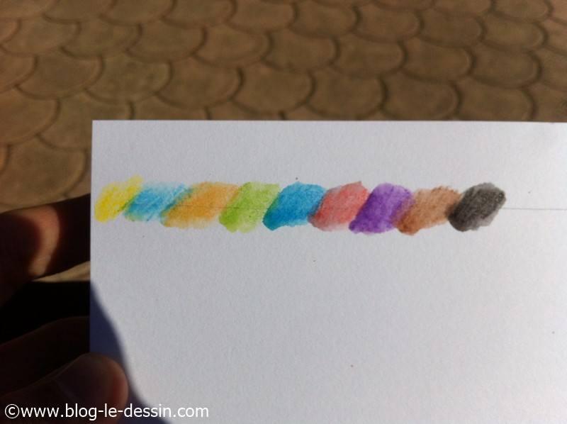 crayons aquarelle degrade