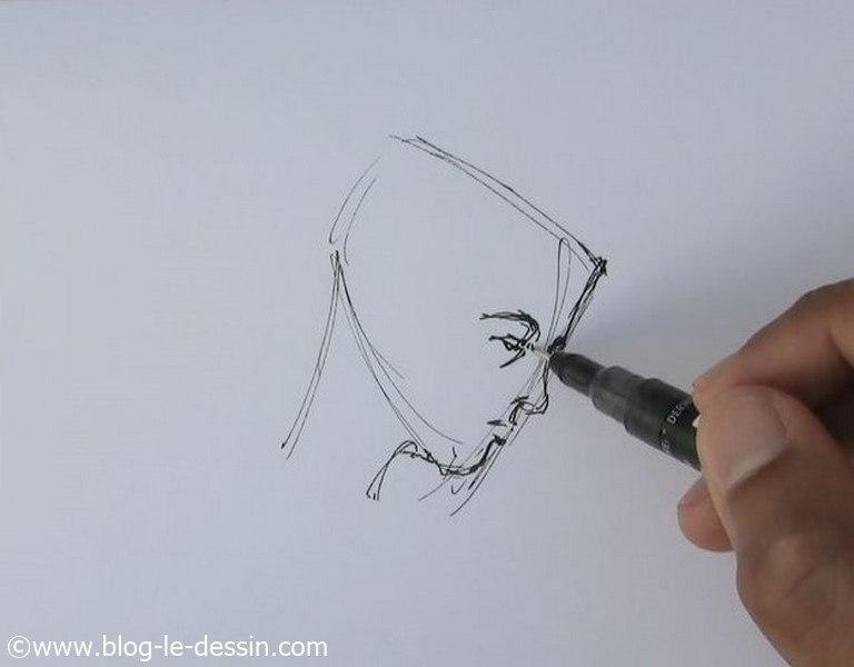 dessin portrait rapide 3