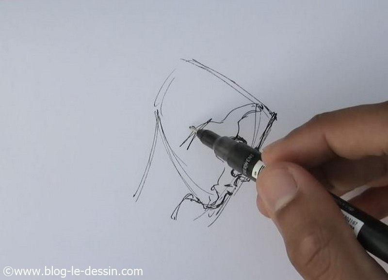 dessin portrait rapide 4