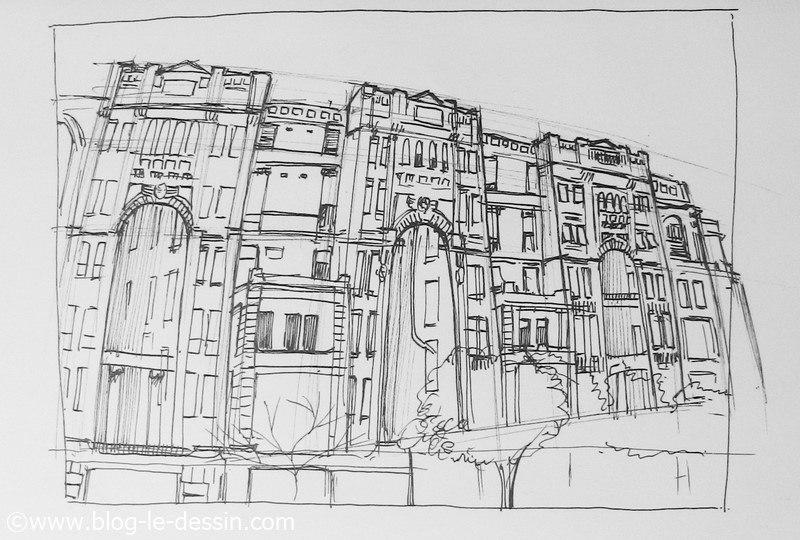 dessiner architecture sur le vif