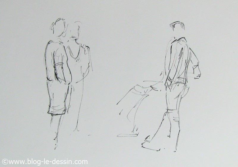 dessiner des personnes sur le vif