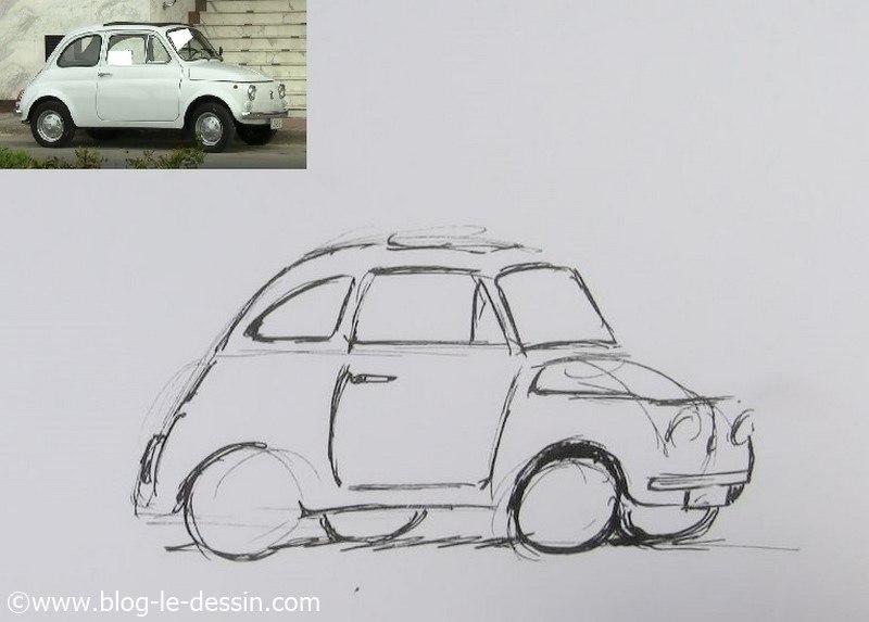 dessiner une voiture facile