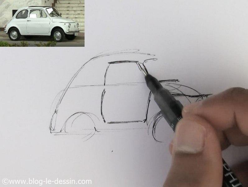 dessiner une voiture facile 8
