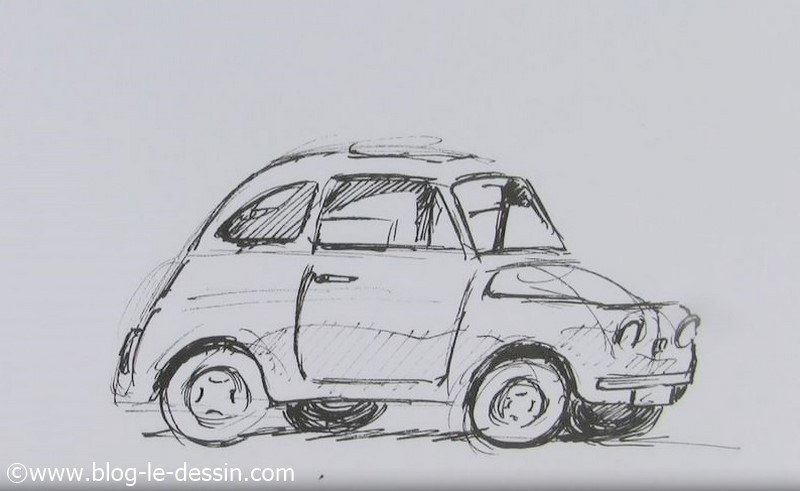 Dessiner une voiture la m thode facile - Dessiner voiture de course ...