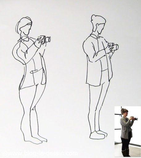 croquis de pose dynamique