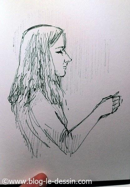 dessiner une fille mettre en valeur visage