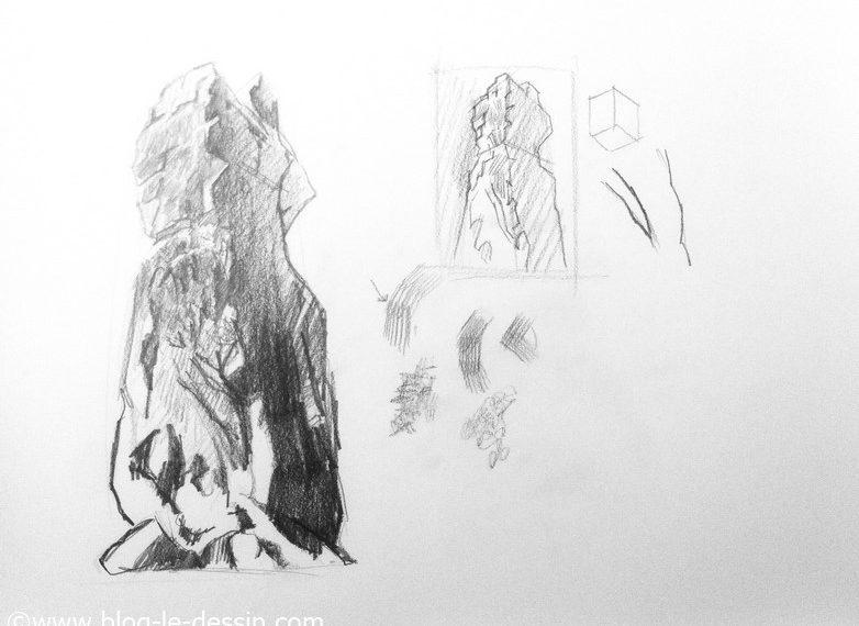 Comment dessiner un rocher en utilisant des techniques simples