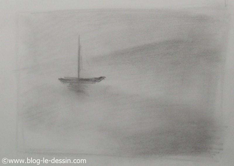 dessiner de la brume