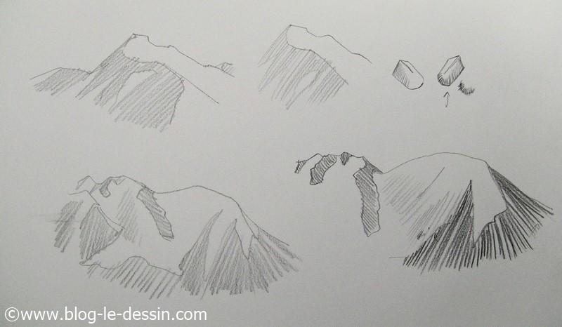 dessiner les montagnes facilement