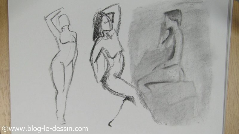 dessin nu illustration 3 femmes