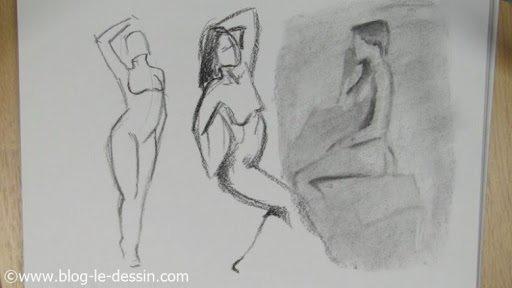 faire du dessin de nu