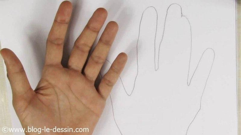 Dessiner une main ouverte 5 astuces pour rendre le naturel - Dessins mains ...