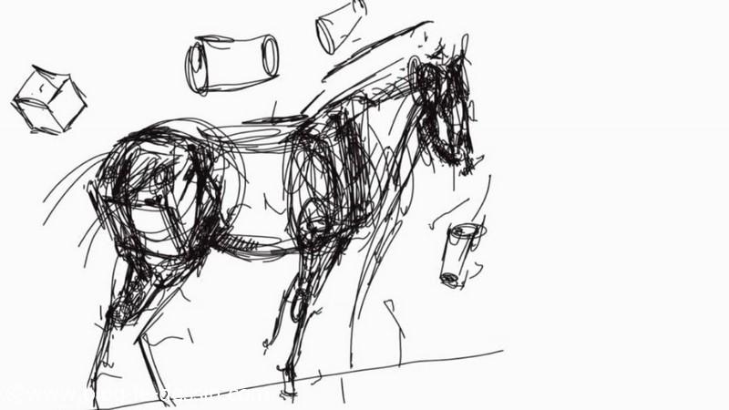 Quelles proportions pour dessiner un cheval - Dessiner un cheval simple ...