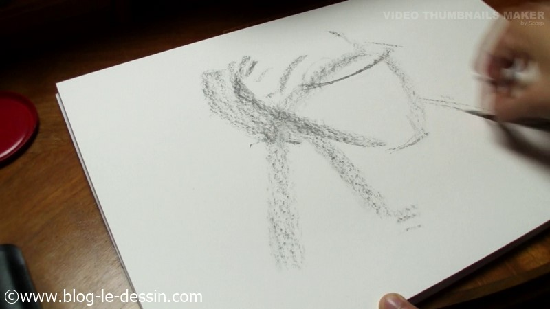 dessiner la peau esquisse rapide