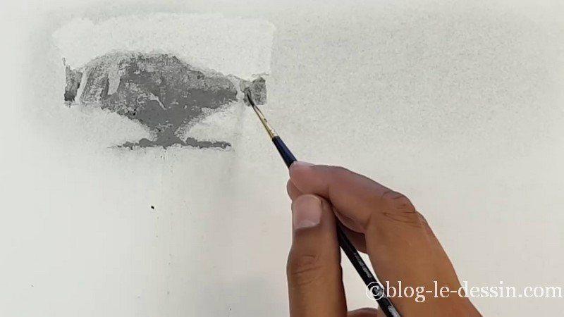 application des demi-teintes et nuances de la poudre graphite