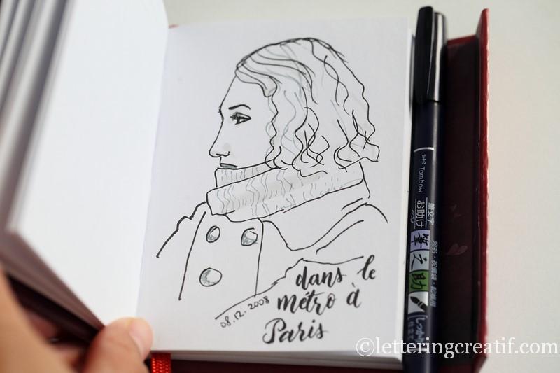 lettering et portrait feutre