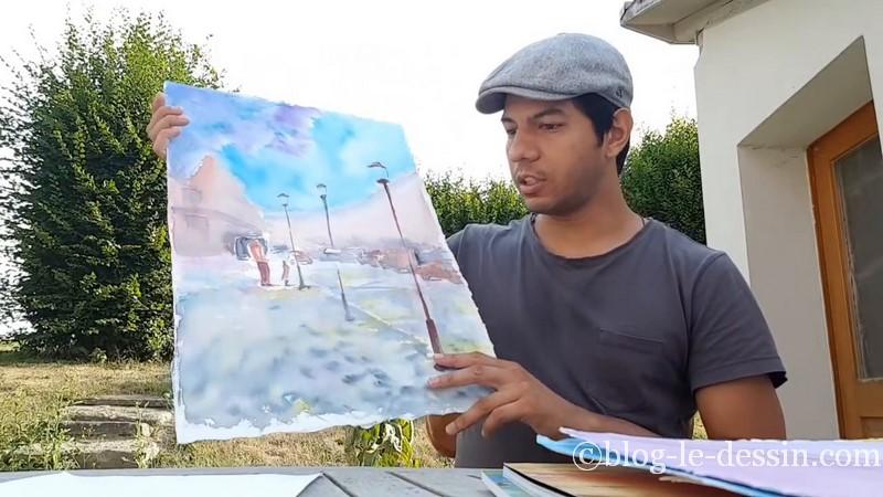 peinture stage prischedko aquarelle