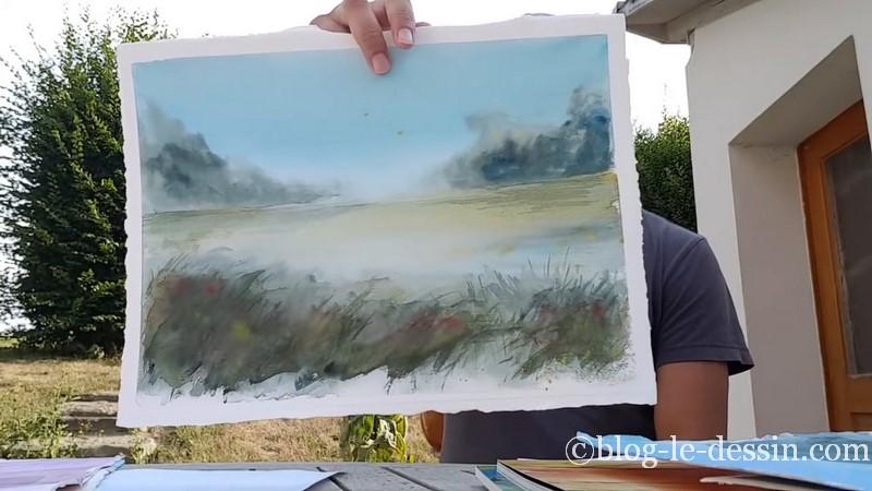 peinture paysage avec Slawa prischedko